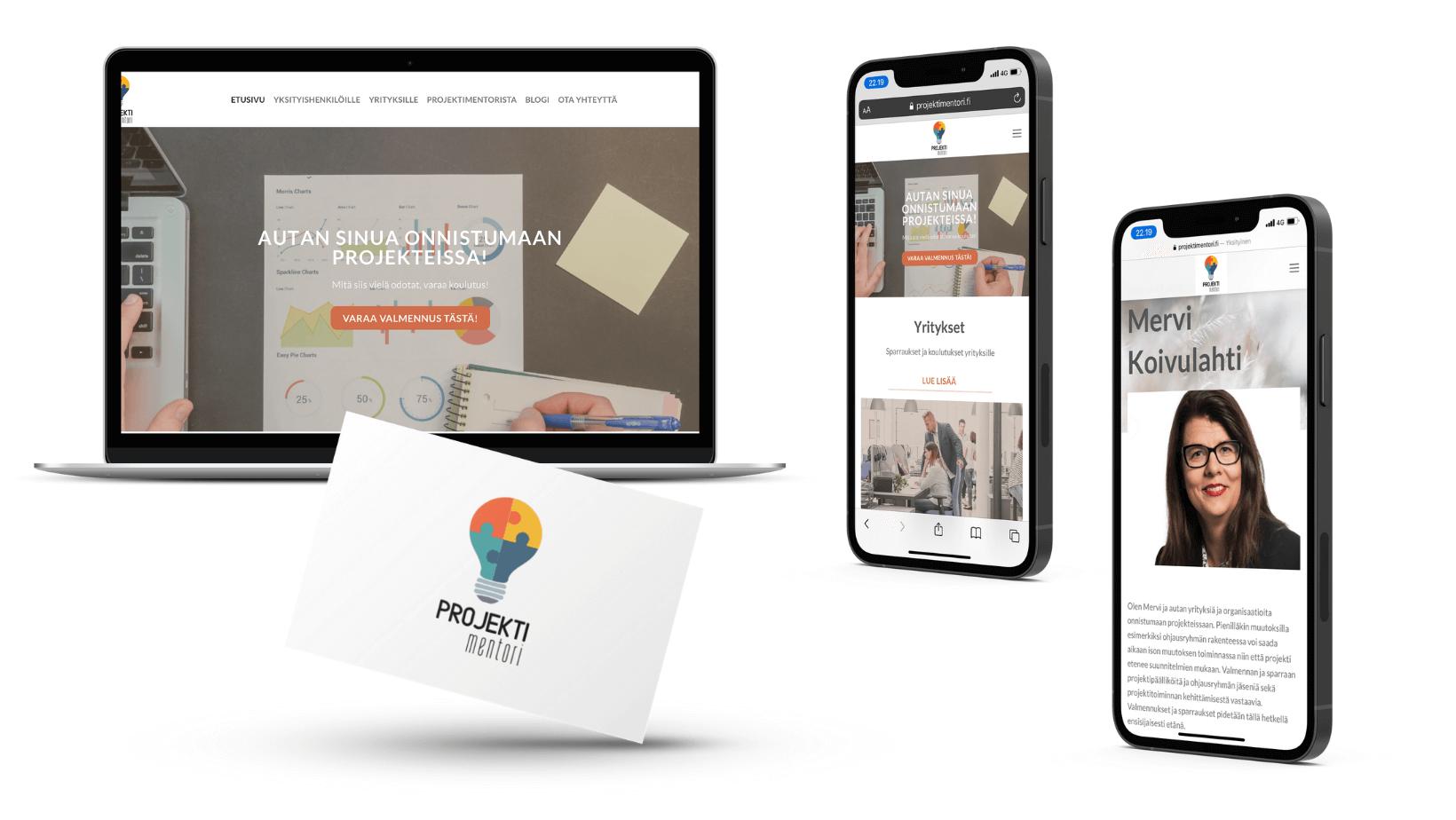 Nettisivu asiakastyö sekä logosuunnittelu JN-Marketing